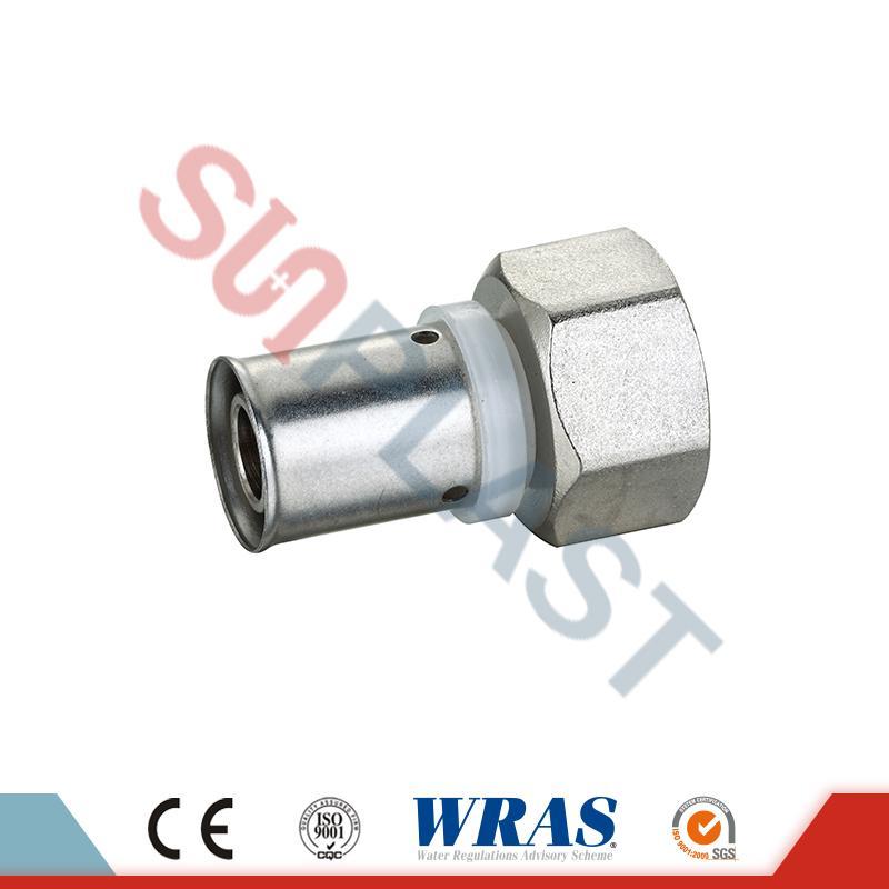Brass Press Coupling ສໍາລັບ PEX-AL-PEX Multilayer Pipe