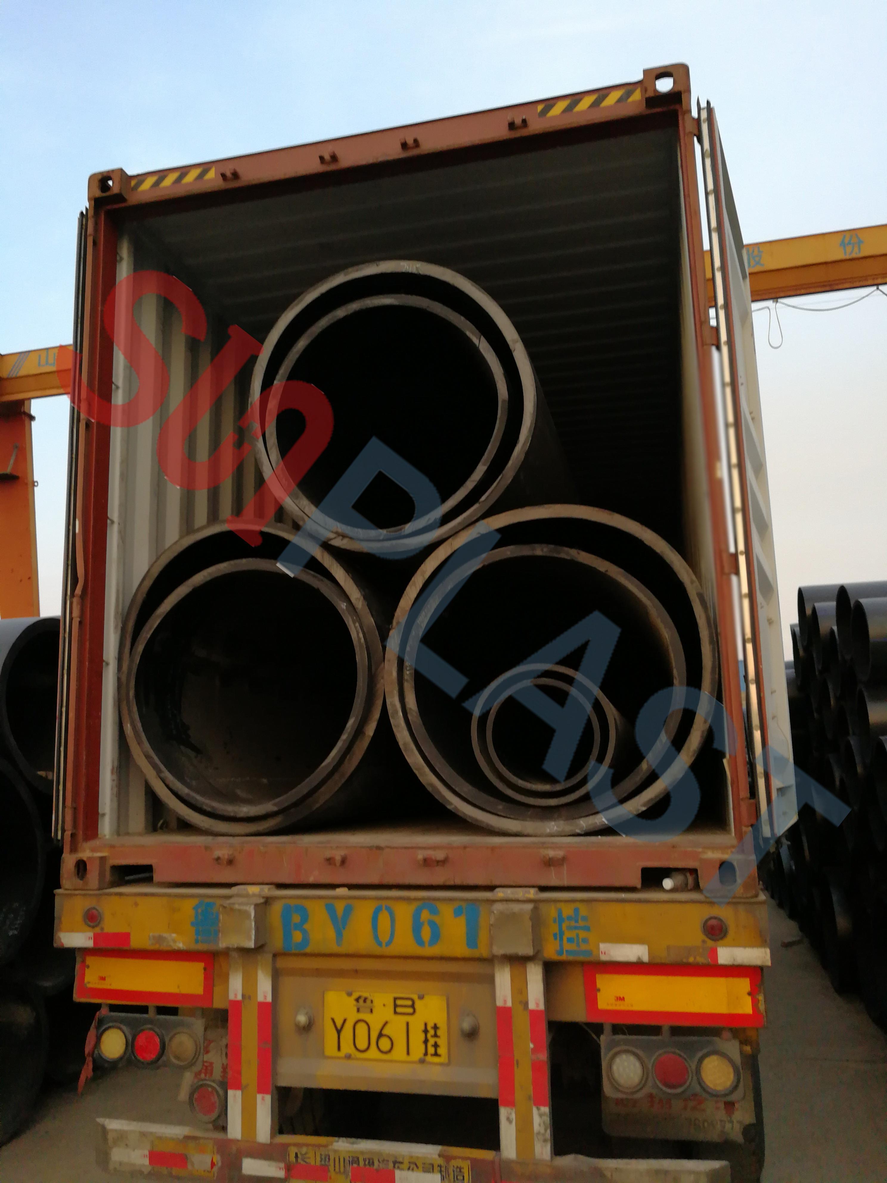 SUNPLAST DN1000 / DN1200mm HDPE Pipe To Australia